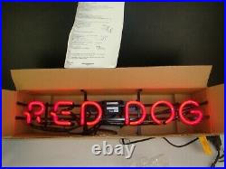 Vintage Early 90's RED DOG NEON Sign 26 x 6 x 6 (20 yrs old STILL IN BOX)