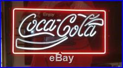 Vintage Enjoy Coca-Cola Neon Light-Up Sign