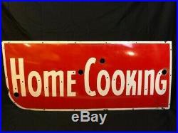 Vintage Ex Neon Porcelain Sign Face Home Cooking