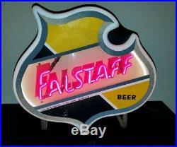 Vintage Falstaff Beer lighted neon sign original works brewery pub tap man cave