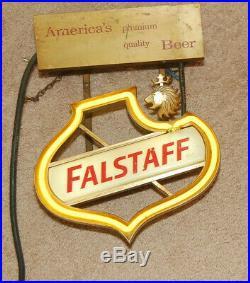 Vintage Falstaff Neon Beer Sign