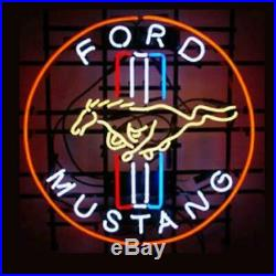 Vintage Ford Mustang Neon Sign