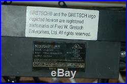 Vintage Genuine Gretsch Guitars Neon Dealer Sign 30 x 7.5 Damaged