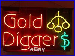 Vintage Gold Diggers Adult Strip Club Neon Light Sign 20x32