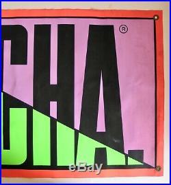 Vintage Gotcha Vinyl Banner Sign Surf Shop Apparel Surfing Surfer Surfboard Neon