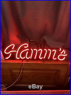 Vintage Hamms Beer Neon Sign Back Bar Man Cave Collectible Item Displays Great