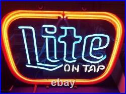 Vintage Lite On Tap Beer Neon Sign