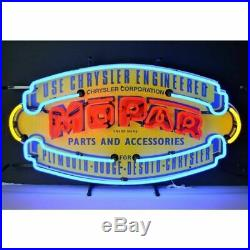 Vintage Look Mopar Shield Mancave Decor Neon Light Neon Sign 32x17 5MPRVS