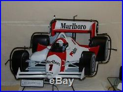 Vintage Marlboro SIGN IndyCar Neon Light RARE Philip Morris PENSKE Indy Racing