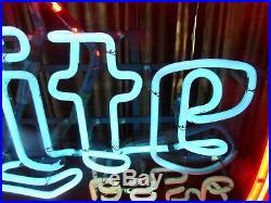 Vintage Miller Brewing Co. Miller Lite BEER Neon Bar Sign
