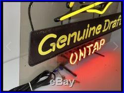 Vintage Miller Genuine Draft On Tap Neon Sign, Hard To Find, Works Great