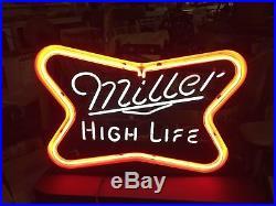Vintage Miller High Life Neon Beer Sign 1980 s