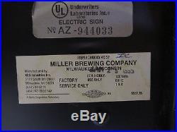 Vintage Miller Lite Beer Cerveza Neon Tejano Accordion Light Advertising Sign