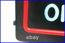 Vintage Miller Lite Cold Beer Neo-neon Bar Sign Light Plastic 20x15x5 Excellent