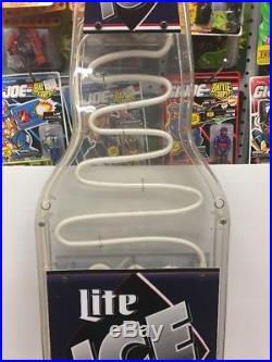 Vintage Miller Lite Ice 41x 12 Light Up Neon Fill Up Motion Bottle Beer Sign