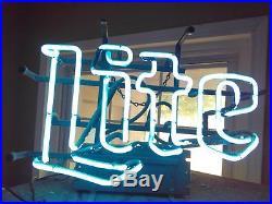 Vintage Miller Lite Neon Beer Sign