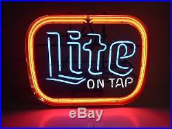 Vintage Miller Lite Neon Sign 1985