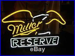 Vintage Miller Reserve Beer Pub Neon Light Sign Q229S 17x14