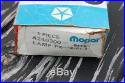 Vintage Mopar Dodge Plymouth Chrysler under hood Trunk light lamp nos