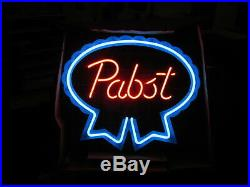 Vintage NOS Pabst Blue Ribbon Beer Neon Window Sign 1983 New In Box Rare