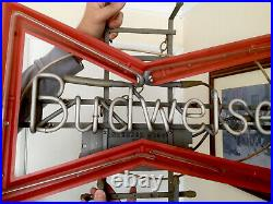 Vintage Neon Budweiser Sign Advertising Collectible