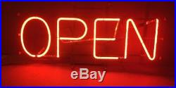 Vintage Neon Business OPEN Sign, Working Good Needs Cleaning Made In USA 1970s