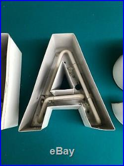 Vintage Neon NASA Sign Letters DecorativeChannelMarquee Old NASA Sign