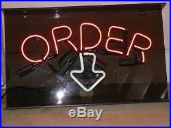 Vintage Neon Order Sign
