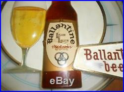 Vintage Neon Products Ballantine Beer Ships Wheel Lighted Beer Sign 21
