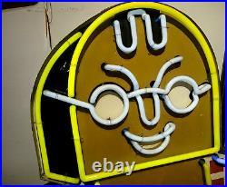 Vintage Neon Sign Werbeschild 172 cm hoch Aussenwerbung Originalzustand 50er