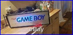 Vintage Nintendo Gameboy Lighted Dealer Display Sign 90s Great Condition
