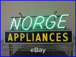 Vintage Norge Appliances Neon Sign