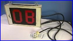 Vintage OB Sign Outside Broadcast Studio Radio TV Light Box On the Air Neon
