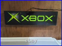 Vintage Official XBOX Neon Sign Pull Light Original Store Display Mancave