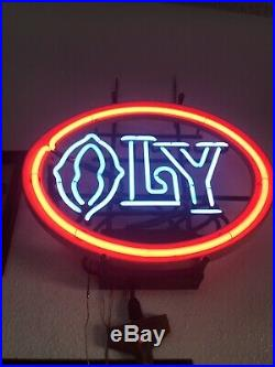 Vintage Olympia Beer Neon Lighted Sign Oly Washington