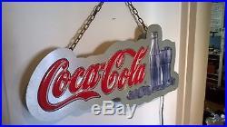 Vintage Original Coca Cola Neon Sign, Man Cave, Bar Light, Coke Lamp, 25x12,62x30cm