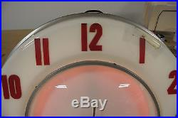Vintage Original Lackner Neon Clock Works Great No Reserve