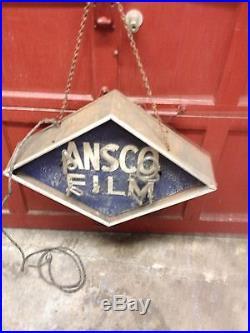 Vintage Original MID 40's Ansco Film Diamond Neon Sign Very Rare Drug Store