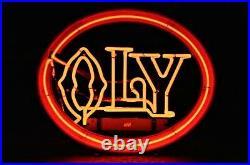 Vintage Original NEON Beer Sign OLY Olympia Beer WORKING 6.4