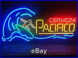 Vintage Pacifico Surfer Neon Beer Sign Made In USA 6 Colors