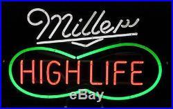 Vintage Peanut Design Miller High Life Neon Sign