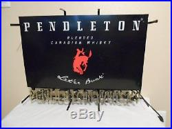 Vintage Pendleton Whiskey Neon Advertising Light Up Sign