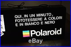 Vintage Polaroid sign store photographer Neon rare 65 cm