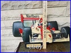 Vintage RARE Marlboro IndyCar Lighted Philip Morris PENSKE Indy Racing Sign