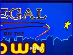 Vintage Retro Regal on the town neon illuminated Advertising sign Tobacco Works