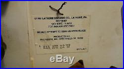 Vintage Rolling Rock Neon Bar Table Clock Sign Underwriters Latrobe Man Cave'97