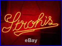 Vintage STROH'S Neon Beer Sign Brewing Breweriana Mancave UNIVERSAL ELECTRIC