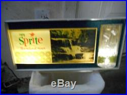 Vintage Sprite Lighted Bubbling Motion Advertising Sign-neon Products-works Well