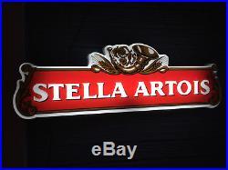 Vintage Stella Artois Neon Original Logo Beer Bar Pub Store Light