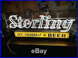 Vintage Sterling Get Yourself a Beer Neon Light Sign Louisville Kentucky Derby